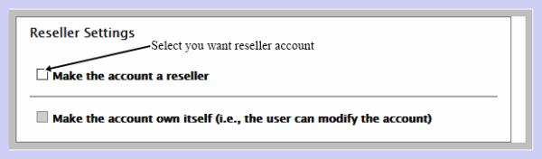 Reseller Setting